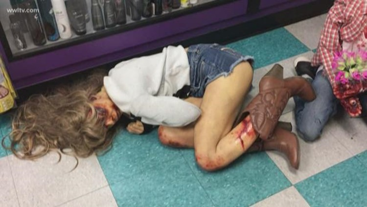 Adult store's Halloween prop of bloodied women sparks controversy
