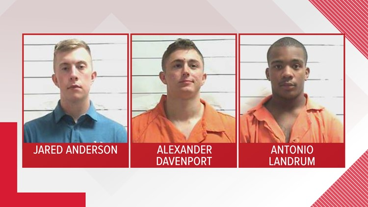 3 Marines arrested and booked in the rape of a Tulane student and her friend