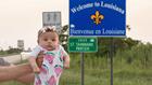 Newborn's epic road trip brings her to Louisiana