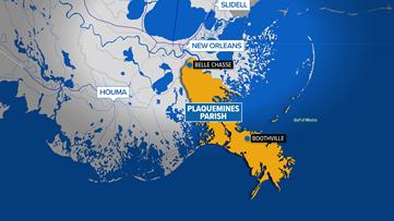 Oil spill spotted in marshland off Louisiana coast