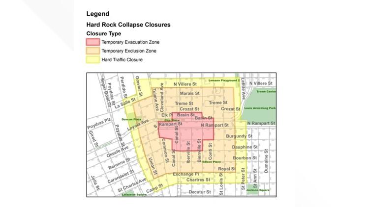 Crane demolition zone